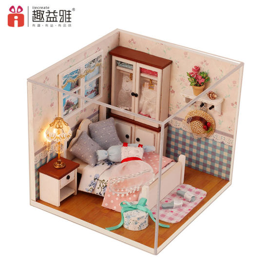 Kids DIY Wooden Doll House Furniture Toys