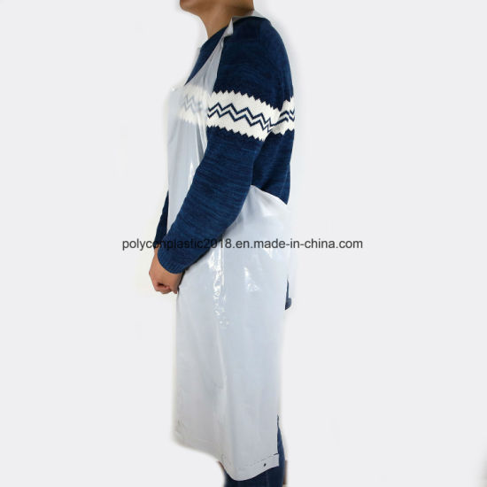 White PE Aprons HDPE/LDPE Disposable Aprons
