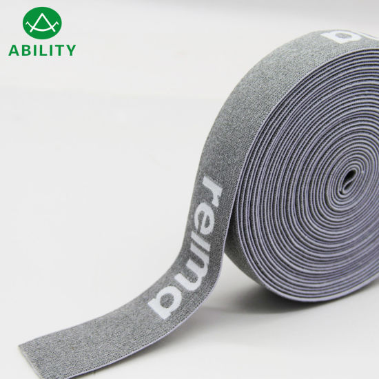 30mm Hot Selling Nylon Customized Woven Jacquard Waistband Elastic Webbing