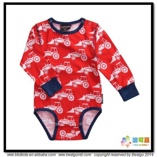 Car Printing Baby Apparel Round Neck Toddlers Onesie