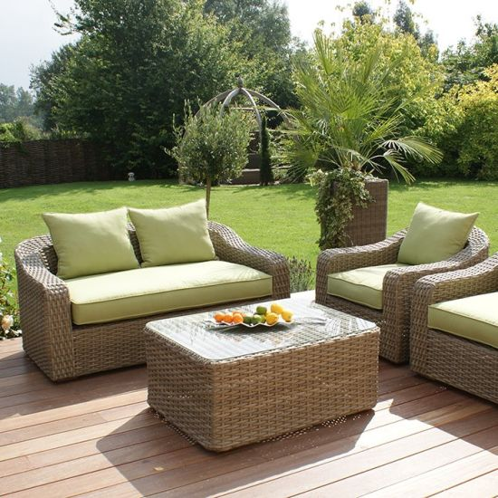 New Design Outdoor Garden Patio Furniture Rattan Sitting Room Sofa Set pictures & photos