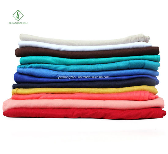 Wholesale Single Jersey Muslim Hijab Elastic Plain Cotton Fashion Scarf pictures & photos