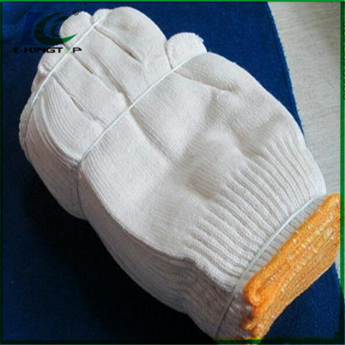 Industrial Safety Knitted White Cotton Hand Work Gloves for Wholesale pictures & photos