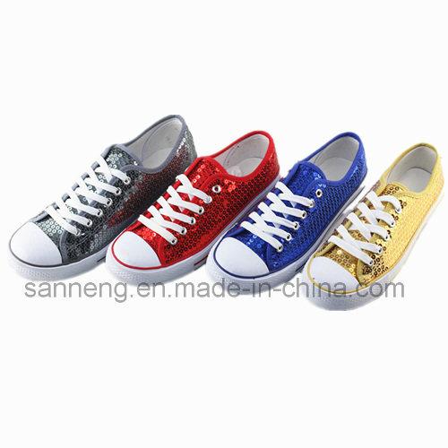 Casual Dancing Footwear with Sequin Upper for Dancing (SNC-230041)