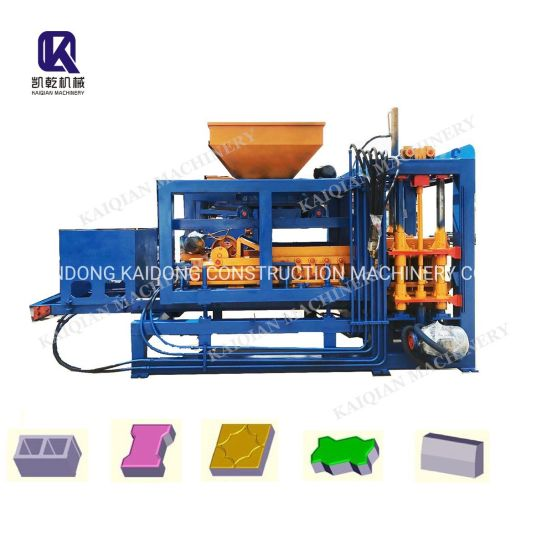Kaidong Cement Brick Making Machine Brick Machine Concrete Block Making Machine Qt4-15 Qt4-22b