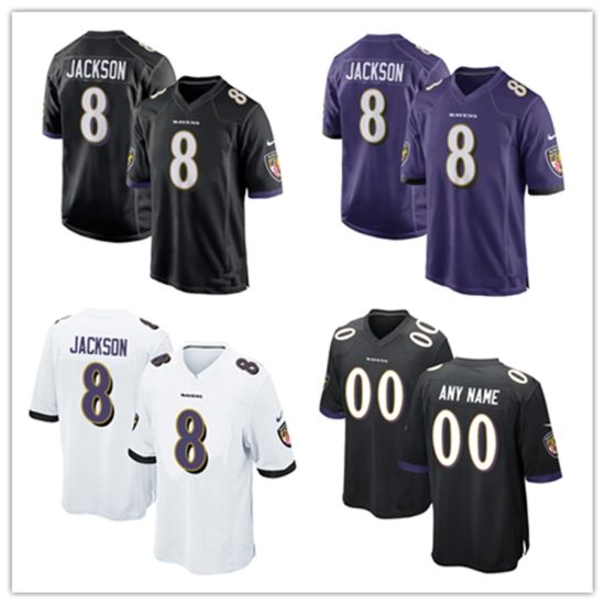 Ravens 8 Lamar Jackson Baltimore Men Women Youth Football Jerseys pictures & photos