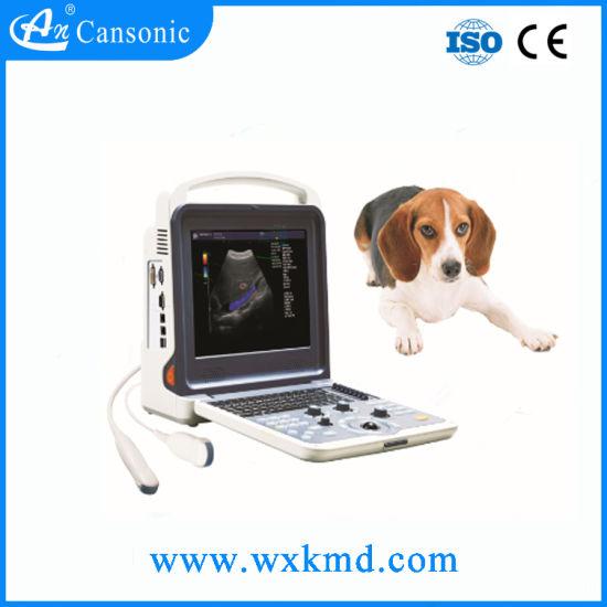 Color Doppler Trolley Veterinary Ultrasound Scanner