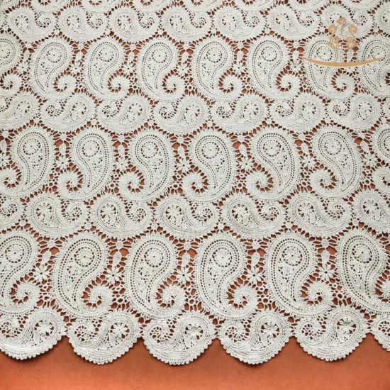 L10004 Jacquard Knitting Nylon/Polyester/Cotton Lace Fabric