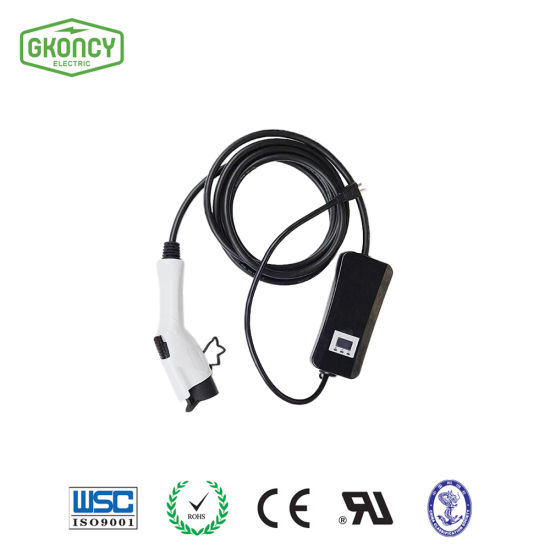 Mode 2 EV Car Charger with Controller SAE J1772