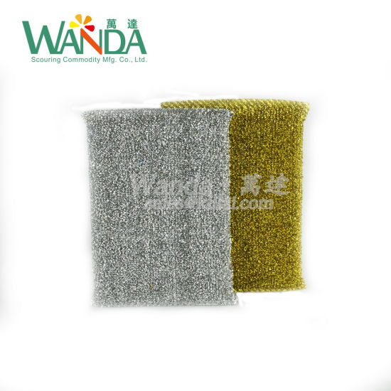 High Quality Kitchen Cleaning Sponge Silver Sponge Scourer pictures & photos