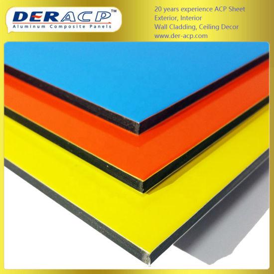 5mm/0.42mm High Gloss Aluminium Composite Sheet for Decoration