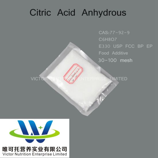 Citric Acid Anhydrous CAS: 77-92-9