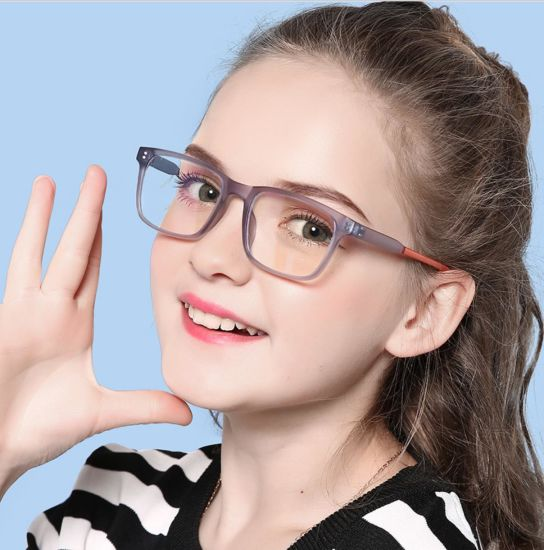 2020 Ready Stock Hot Sale Amazon 7-15 Year Tr90 Anti Blue Light Optical Frame for Kids or Student