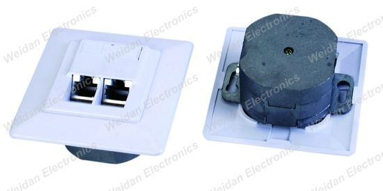CAT6 Dual Port FTP Germany Faceplate/Wall Outlet