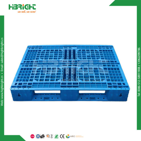 4 Way Reinforced Plastic Euro Pallet with Steel Tube Inserted pictures & photos