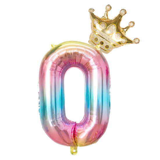 China 2pcs 32inch Rainbow Number Foil Balloons Air Balloon Birthday Party Decorations Kids Rose Gold Pink Silver Blue 0 9 Digit Ball China Animal Balloons And Decoration Balloon Price