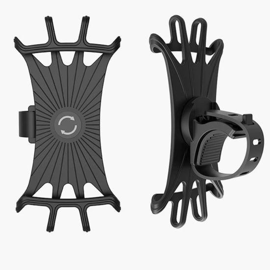 Universal 360 Degrees Rotation Silicone/Rubber Motorcycle/Bicycle Bike Phone/Mobilephone/Cellphone Holder/Mount