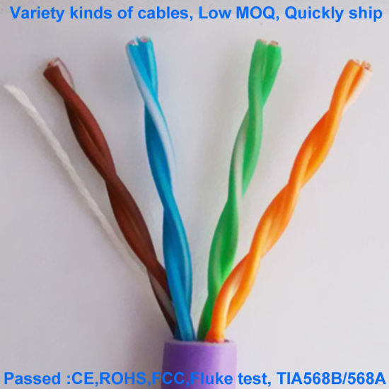 Cat5e 24AWG UTP Non-Shielded Low-Smoke Halogen-Free Network Cable Patch Cord