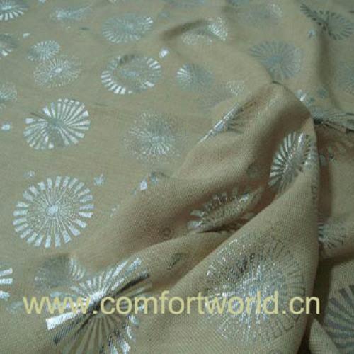 Silver Printing Sofa Fabric