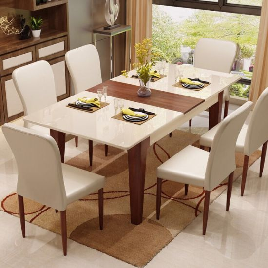 Wholesale Market Modern Wooden Living Room Home Apartment Restaurant Canteen Hotel Furniture Set Folding Chair Dining Table