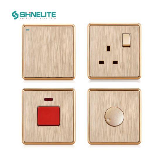 British Standard Wall Push Button Switch Socket Electrical Light Switch