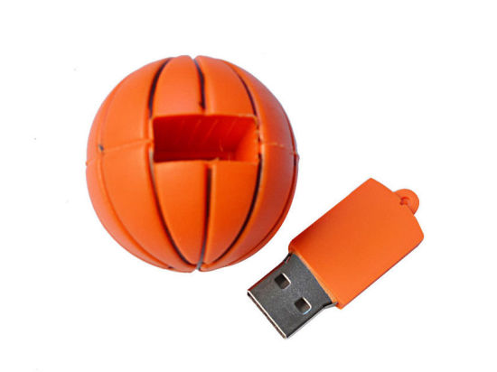 Hot Sale Cartoon Rubber Ball Shape PVC USB Flash Disk pictures & photos