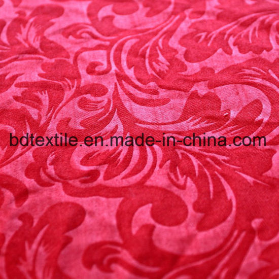 Colorful Plain Dyed Embossed Microfiber Fabric for Home Textile pictures & photos
