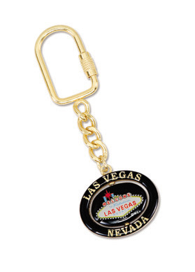 Souvenir Metal Keychain for La, Customized Promotional Gifts