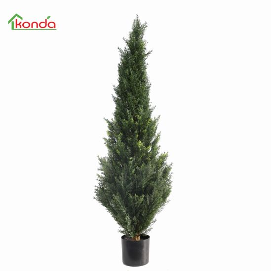 Artificial Natural Shapped Grass Artificial Topiary Cypress Tree