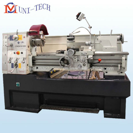 Precision Gap Bed Lathe Machine One Piece with Cast Iron Stand