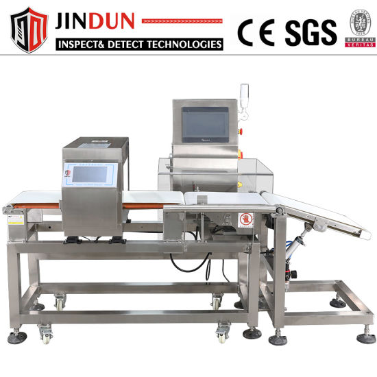 High Sensitivity Food Industry Conveyor Belt Metal Detector Combined Checkweigher