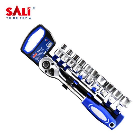 Sali 10-22mm 50BV30 12PCS High Quality Professional Hand Tools 1/2'' Socket Set