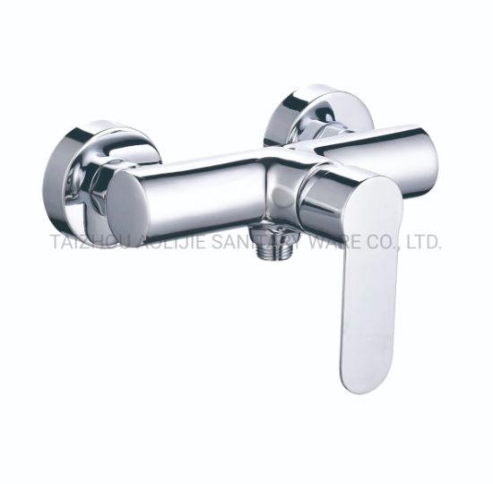 New Model Single Handle EU Standard Brass Shower Faucet Bathtub Mixer Basin Water Tap