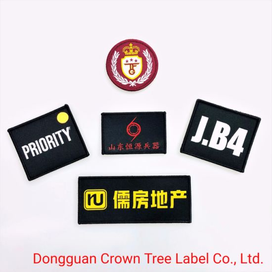 Hot Sell Woven Patch with Red Color Garments Accessories for Career Uniform