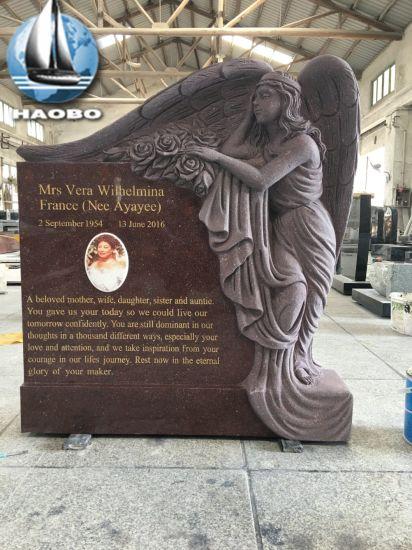 Hand Carved Granite Weeping Angel Statue Memorial