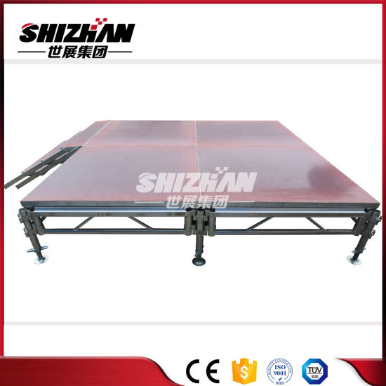 Aluminum Outdoor Stage, Wooden Surface, Stage Platform Adjustable Height