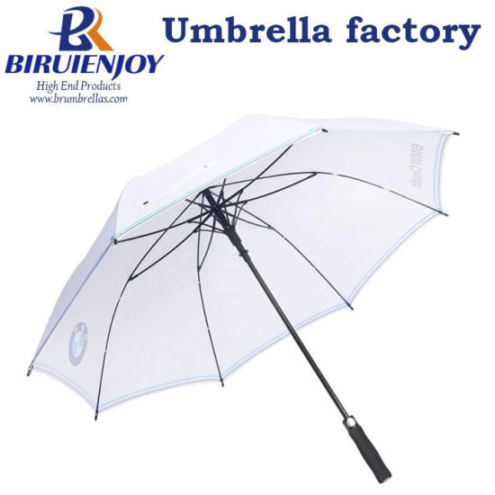 Custom Large Automatic Sun Golf Umbrella with Logo Printing for Promotion