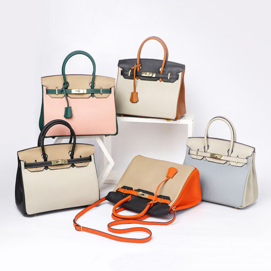 Factory OEM Private Label Wholesale Bag Ladies Women Handbags Tote Shoulder Genuine Leather AAA Brand Fashion Designer Luxury Lady Handbag