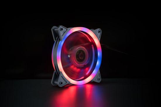 12 RGB Tt Premium Edition 120mm Software Enabled Circular 9 Controllable LEDs RGB PWM Case Radiator Fan 3pack, Tt RGB Plus Software