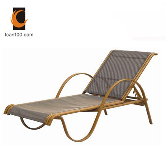 Water Proof Outdoor Textilene Rattan Pool Furniture Chaise Chair Lounge Sun Lounger Furniture pictures & photos