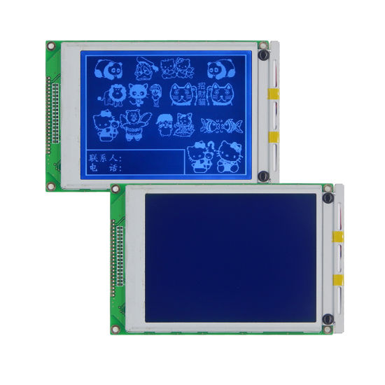 128x64 BLUE w// White graphics LCD Display Batch of FIVE.