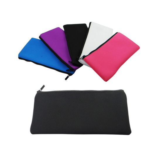 Black Colored Big Pencil Case Organizer Bag Tool Pouch for School Stationery