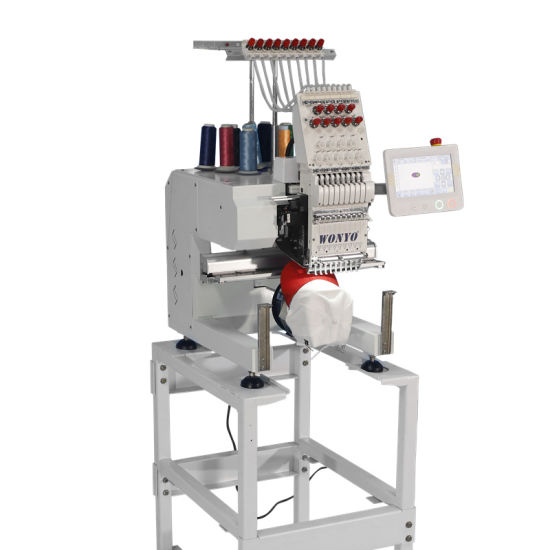 Single Head Computerized Embroidery Machine for Cap/Tshirt/Garment