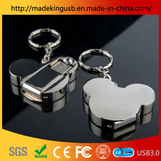 Promotional Mickey Mouse Stainless Steel USB Flash Drive/Metal USB Flash Drive pictures & photos