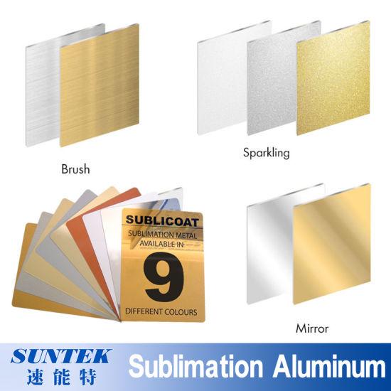 Sublimation Coated Printable Blank Brushed Pearlescent Glossy Aluminum Sheet