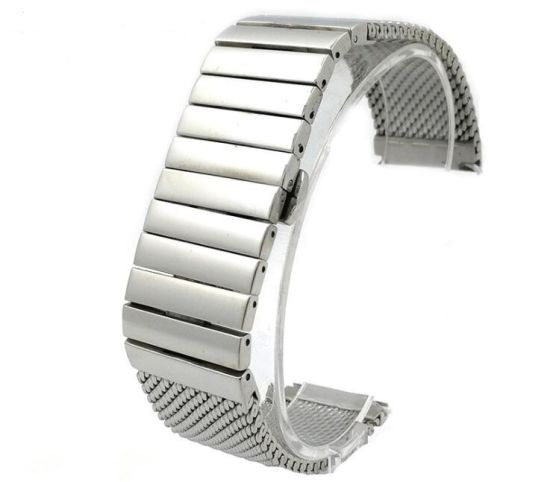 China 18mm 20mm 22mm 24mm Silver Stainless Steel Milanese Mesh Watch ...