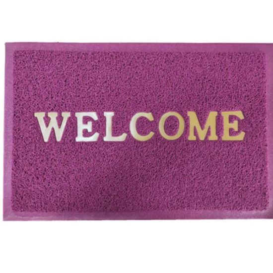 Factory Supply Eco Friendly Plastic Vinyl Anti-Slip PVC Welcome Entrance Coil Door Floor Mat for Home Decoration Use