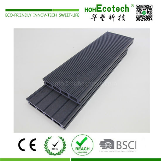 Grooved WPC Decking Hollow Light, Design WPC Composite Wood Timber, Wood Plastic Decking Tiles (150H25-C) pictures & photos