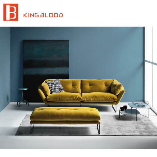 Luxurious Style Simple Wooden Chesterfield Velvet Sofa Set Designs Divan  For Guest Room Furniture