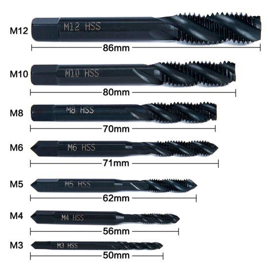 UK SELLER. 4mm M4 x 0.7 HSS Spiral Flute Machine Tap TiN Coated